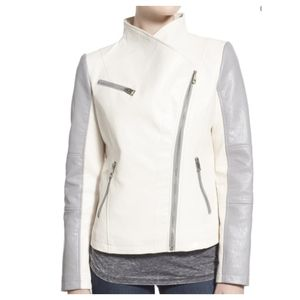 TAKE 50% OFF GUESS FAUX LEATHER MOTO JACKET